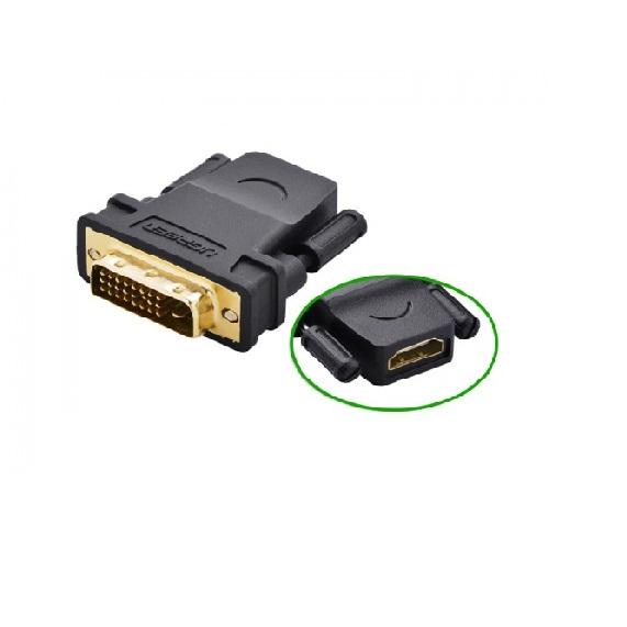 Đầu chuyển đổi DVI-D Male to HDMI Female Ugreen 20124 UG20124