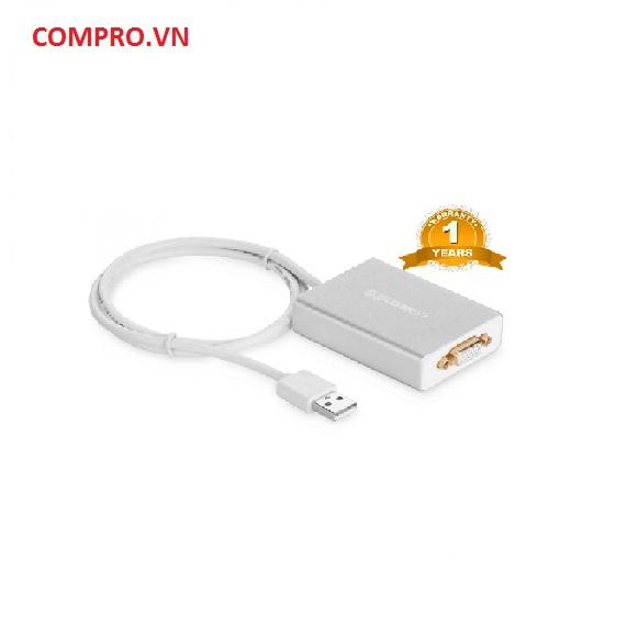 Cáp chuyển USB 2.0 TO VGA Cao Cấp Chính Hãng Ugreen UG 40244