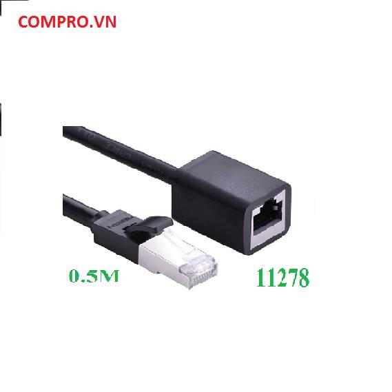 Cáp mạng đúc sẵn Cat6 UTP RJ45 nối dài 0,5m chính hãng Ugreen UG11278