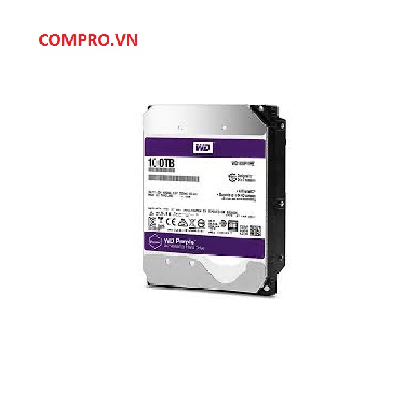 Ổ cứng Hardisk PC Desktop HDD WD 10TB WD100PURZ (Tím)