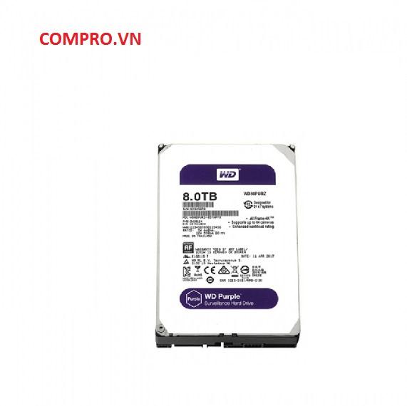 Ổ cứng Harddisk PC Desktop HDD WD 8TB WD80PURZ (Tím)