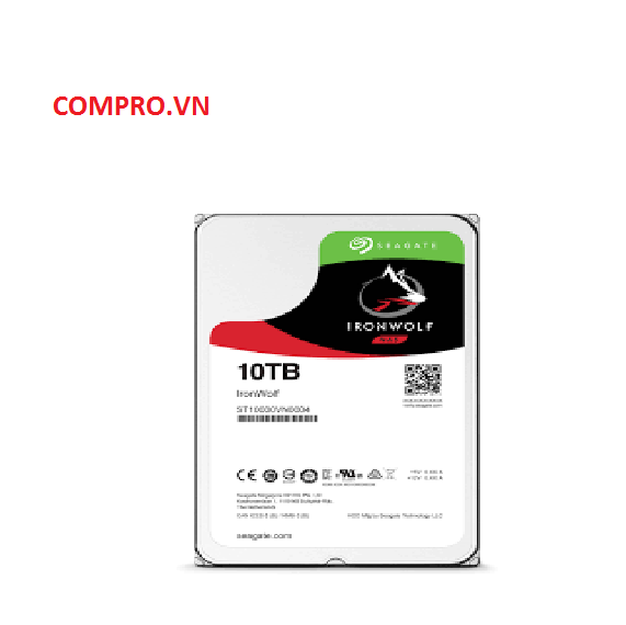 Ổ cứng NAS Seagate Ironwolf 10TB 3.5'' Sata 3 (ST10000VN0004)