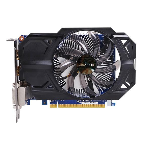 Card màn hình Gigabyte NVIDIA GeForce GTX 750 Ti 2GB N75TD5-2GI