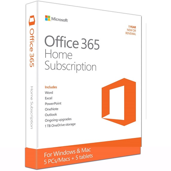 Phần mềm Office 365 Home English APAC EM Subscription 1YR Medialess P2 (6GQ-00757)