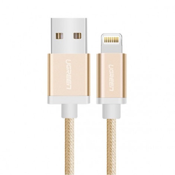 Cáp Sạc USB Lightning Chuẩn MFi dài 1M5 Màu Vàng Ugreen 30588
