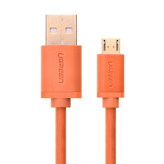 Cáp Sạc Micro USB 2.0 Ugreen Dài 1M Màu Cam 10864