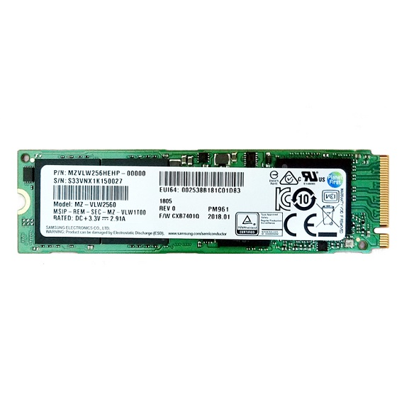 Ổ cứng SSD Samsung NVMe PM961 128GB M.2 PCIe Gen3 x4