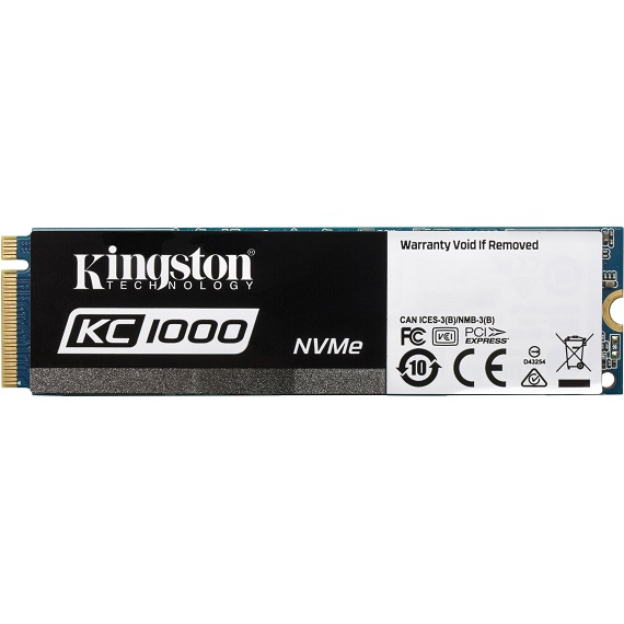 Ổ cứng SSD Kingston KC1000 480GB SKC1000/480G (M.2 2280) M.2 PCIe Gen3 x4 NVMe
