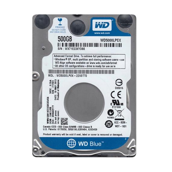 Ổ cứng HDD Western Digital WD 500GB 5400rpm (WD5000LPCX) (Xanh) 2.5 inch Sata 3