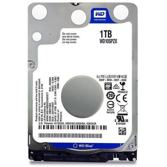 Ổ cứng Notebook HDD Western Digital WD 1TB 5400rpm (WD10SPZX) 2.5 inch Sata 3 (Xanh)