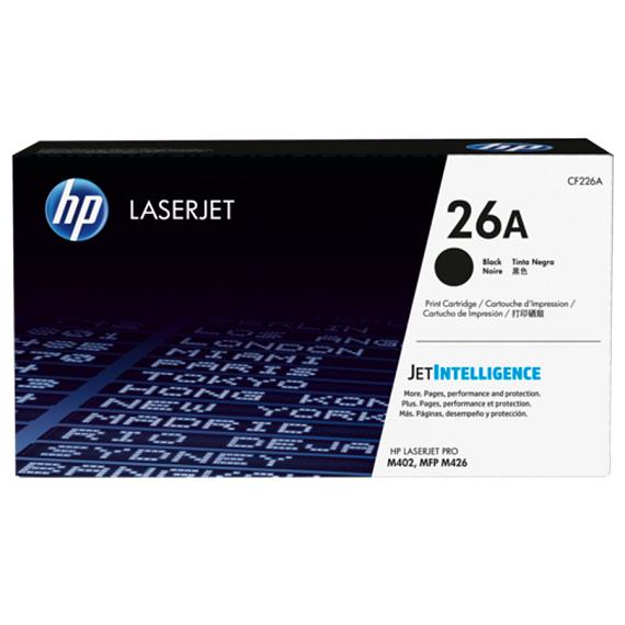 Mực in Laser đen trắng HP 26A (CF226A) dùng cho máy HP LaserJet Pro 400, M402N, M402DN, 426fdn