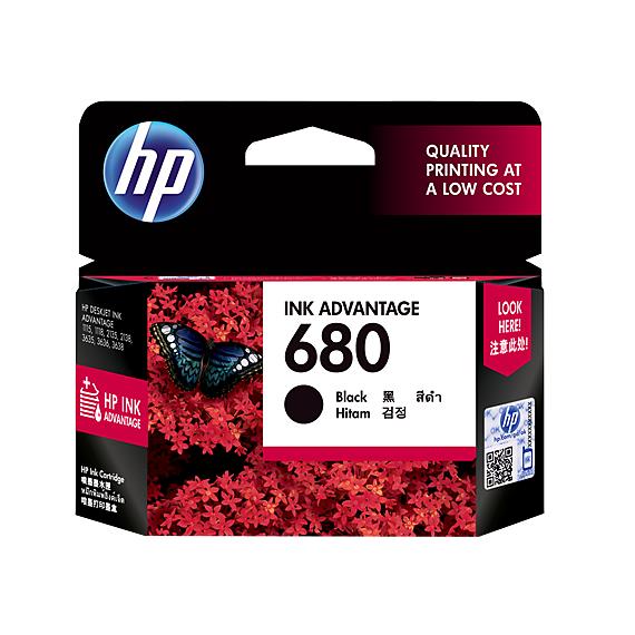 Mực in Phun màu HP 680 Black (F6V27AA) - Màu đen - Dùng cho máy in HP 2135, HP 3635, HP 3835, HP 4535