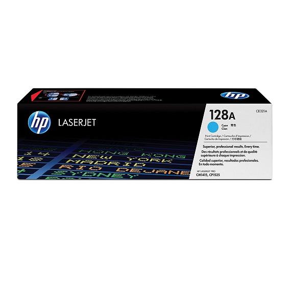 Mực in chính hãng HP 128A (CE321A) màu xanh dùng cho máy HP CP 1525 / CM 1415