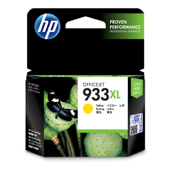 Mực HP 933XL (CN056AA) màu vàng dùng cho máy HP Officejet 6100, 6700, 6600, 7110, 7610