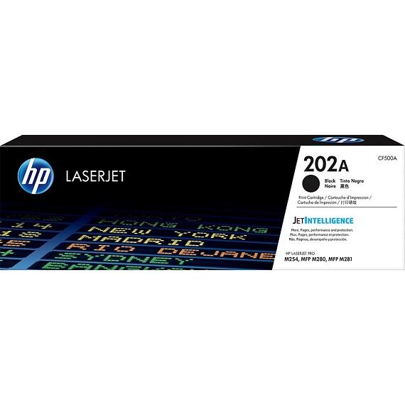 Mực hộp máy in laser HP 202A Black (CF500A) - Dùng cho máy in HP Color LaserJet Pro M254dw - M254nw - M280nw - M281fdn - M281fdw