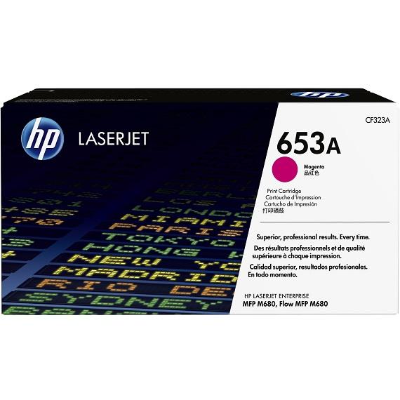 Mực in HP 653A (CF323A) màu hồng dùng cho máy in Laser màu HP M680, M651