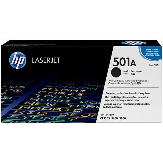 Mực in HP 501A (Q6470A) màu đen dùng cho máy in HP CLJ 3600 / 3800