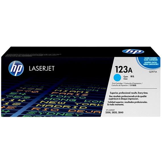 Mực in HP 123A (Q3971A) màu xanh dùng cho máy in HP CLJ 2550
