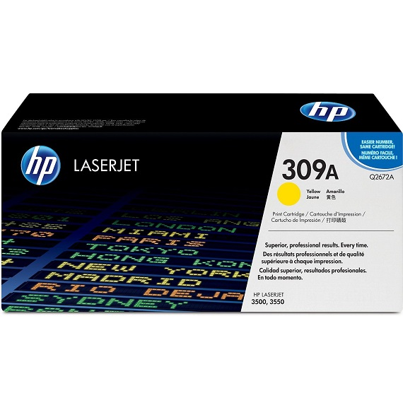 Mực in HP 309A (Q2672A) màu vàng dùng cho máy Laser màu HP 3500 / 3550