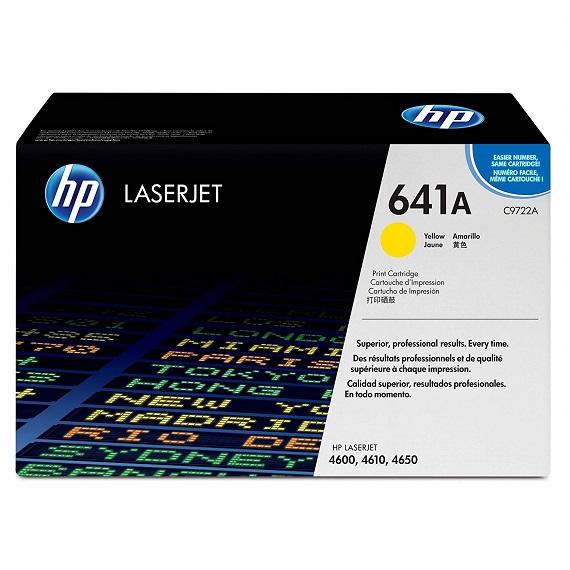 Mực in HP 641A (C9722A) màu vàng dùng cho máy in HP CLJ 4600 / 4650