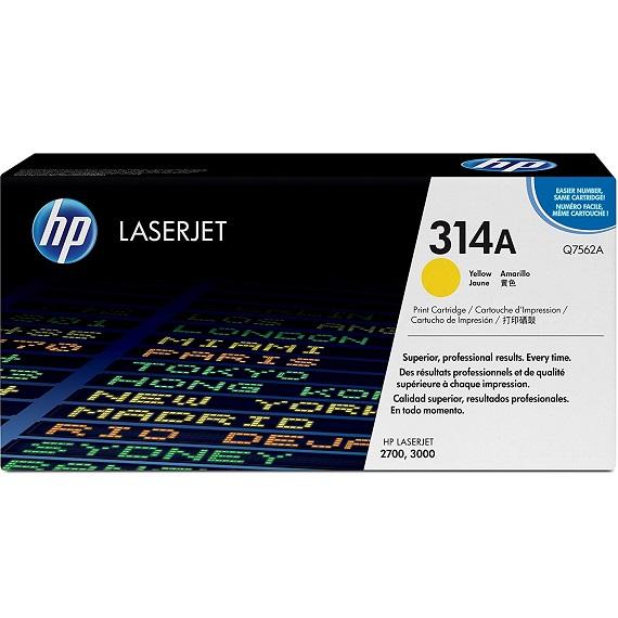 Mực in HP 314A (Q7562A) màu vàng dùng cho máy in HP Laser màu 2700 / 3000
