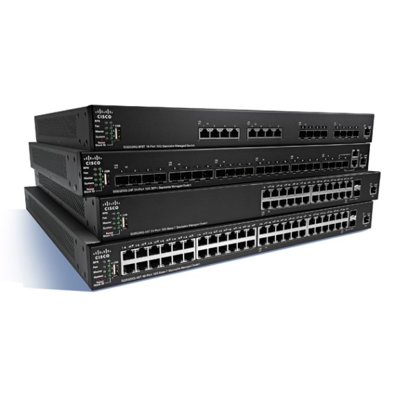 24-Port 10GBase-T Stackable Managed Switch CISCO SG350XG-24T-K9-EU