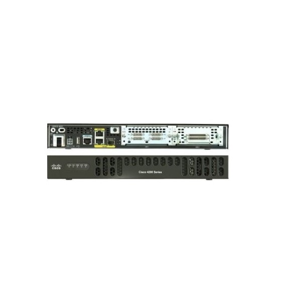 ISR4221/K9 Cisco ISR 4221 (2 GE, 2 NIM, 8 GB FLASH, 4 GB DRAM (default memory) (CON-SNT-ISR4221K)