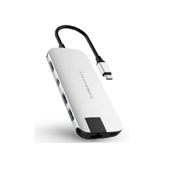 Bộ chia Hub Hyperdrive Slim USB-C Multi Port HD247B (Bạc)