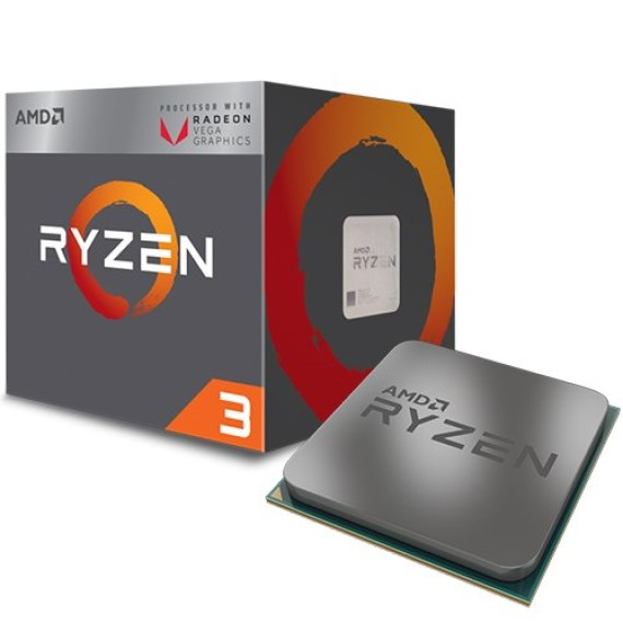 CPU AMD Ryzen 3 2200G (4C/4T, 3.5 GHz - 3.7 GHz, 4MB) - AM4 1