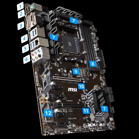 Mainboard MSI B450 A-PRO