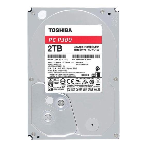 Ổ cứng HDD Toshiba P300 3.5' 2TB SATA 7200RPM 64MB (HDWD120UZSVA)