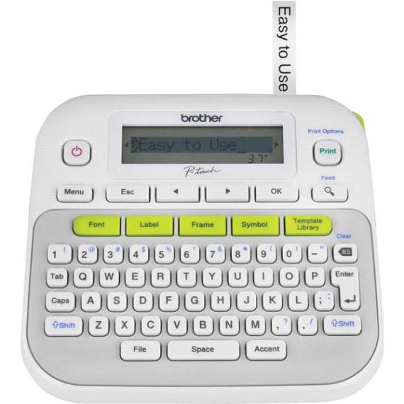 Máy in nhãn dạng để bàn có bàn phím Qwerty Brother PT-D210