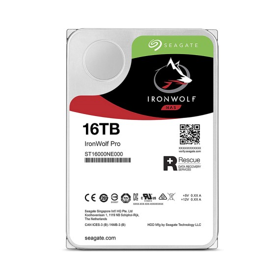 Ổ cứng HDD Seagate IRONWOLF PRO 16TB 3.5
