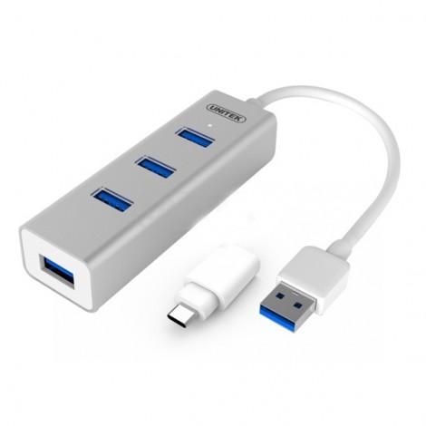 Bộ chia 7 cổng USB 3.0 chính hãng Unitek Y-3090