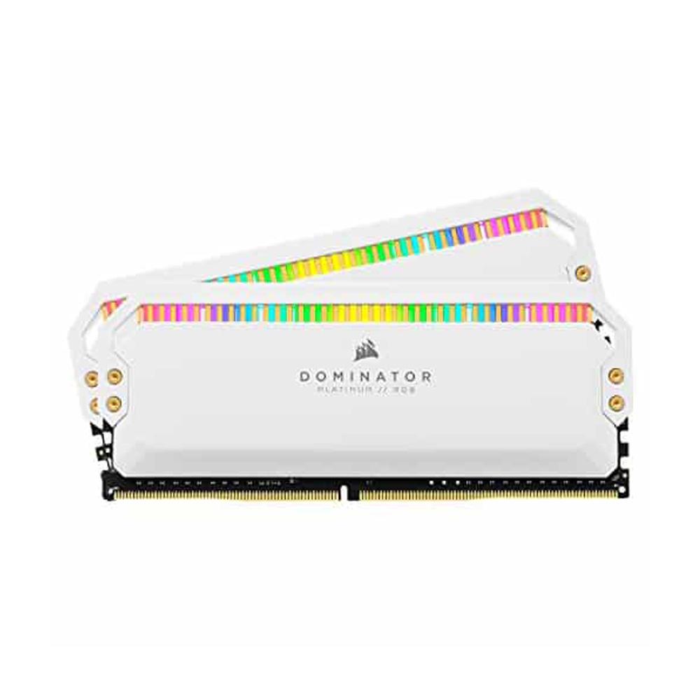 Ram Desktop Corsair Dominator Platinum White RGB (CMT32GX4M2C3200C16W)