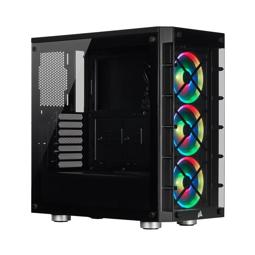 Vỏ máy tính kính cường lực Corsair 465X TG RGB Black (CC- 9011188-WW)