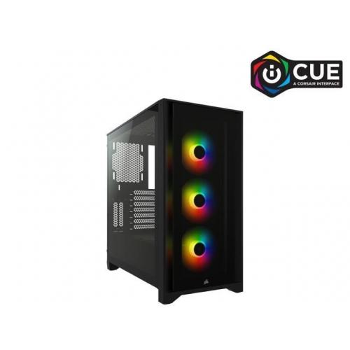 Vỏ máy tính Corsair iCUE 4000X RGB TG Black