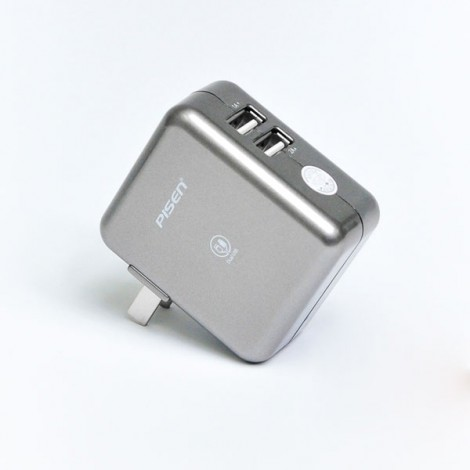 Sạc Pisen Dual USB Charger 2A, 15W Fast Charging TS-FC026