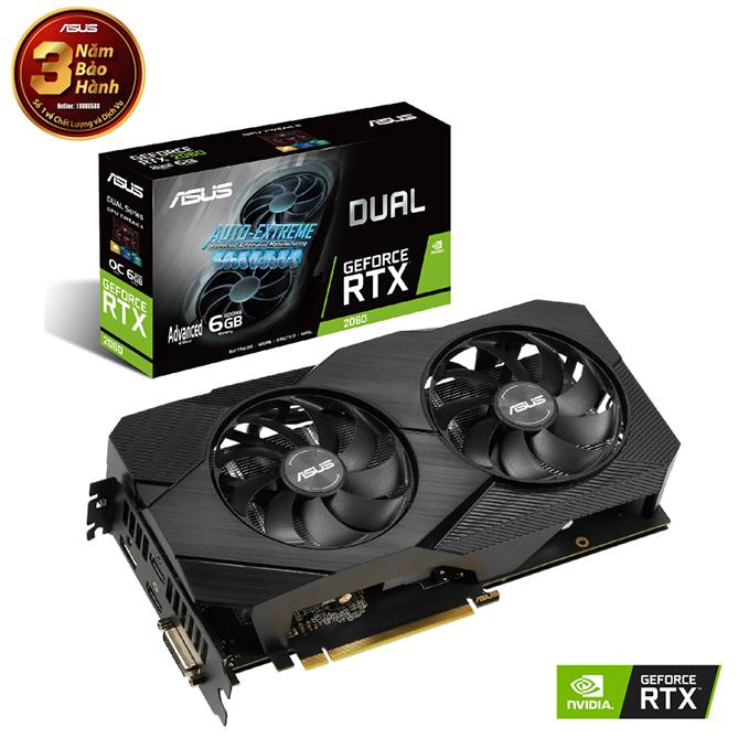 Card màn hình ASUS Dual GeForce RTX 2060 6G EVO 6GB GDDR6